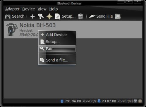 Ubuntu: How to connect Nokia BH-503 bluetooth headset to